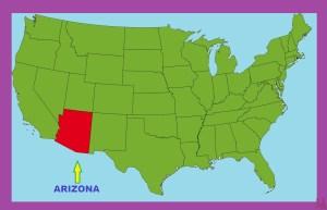 Arizona Location  Map  | Location  Map of Arizona