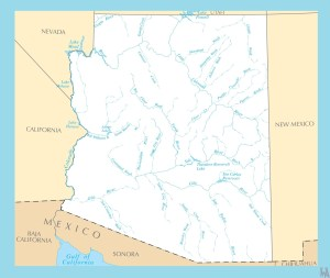 Arizona Rivers Map   Rivers  Map of Arizona – 2