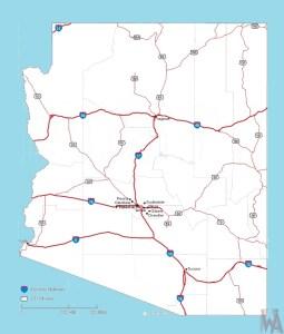 Arizona Roads Map |  Roads  Map of Arizona