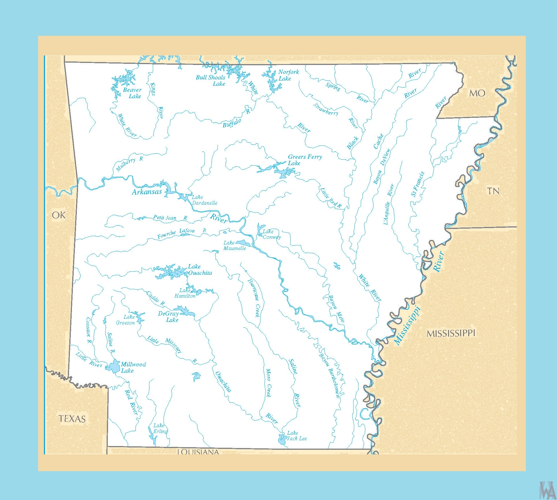 Arkansas River Map  |  River  Map of  Arkansas