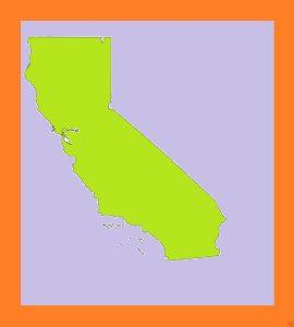 California Blank Outline Map  – 3     Blank Outline Map of California