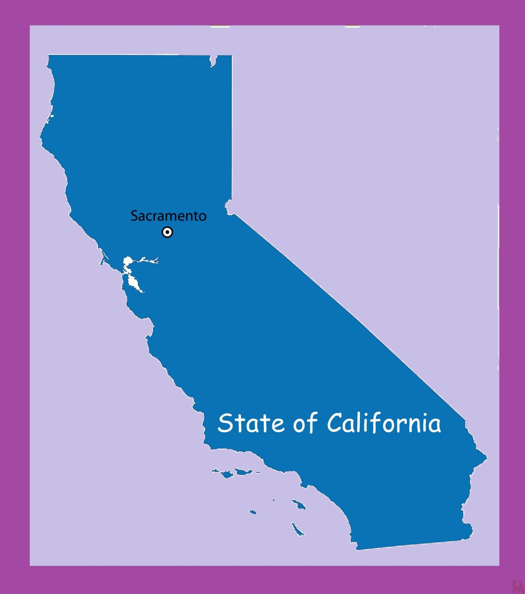 California Capital  Map   Capital  Map of California