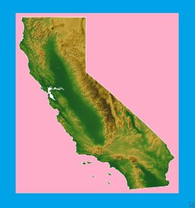 California Physical  Map – 2  |  Physical  Map of California