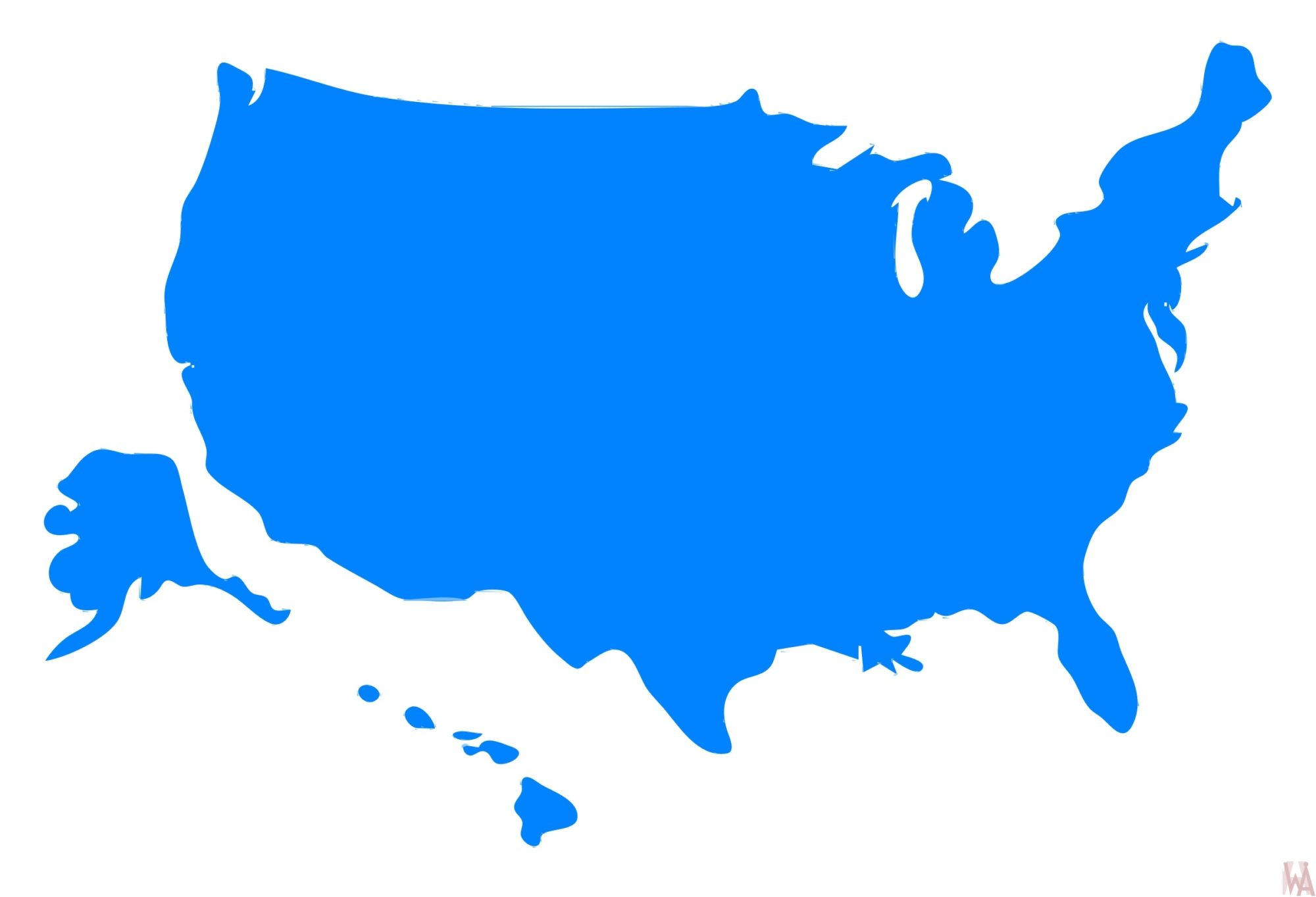 Clipart map of USA