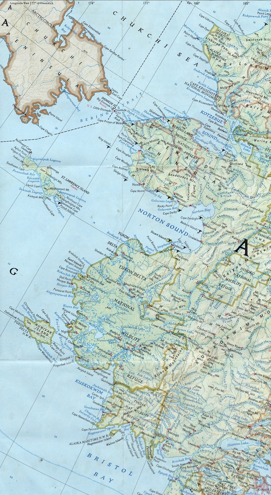Map of westcoast