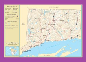 Connecticut Political Map   Political  Map Of Connecticut