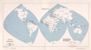 The World Antique Outline Map, 1983   Large Printable, HD and Standard Map