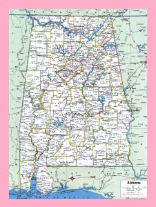 Alabama Large Detailed  Map   Large | Detailed  Map of Alabama-1