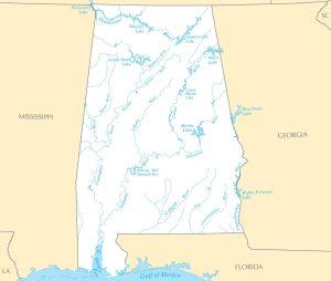 Alabama River  Map  |  River Map of Alabama