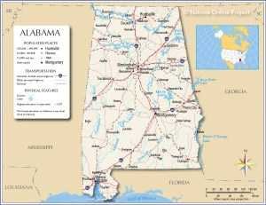 Alabama River map | National Online Project