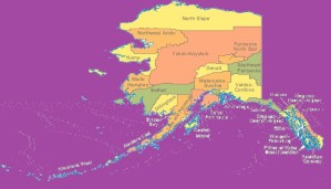 Alaska Color County Map   |  Large Printable 3