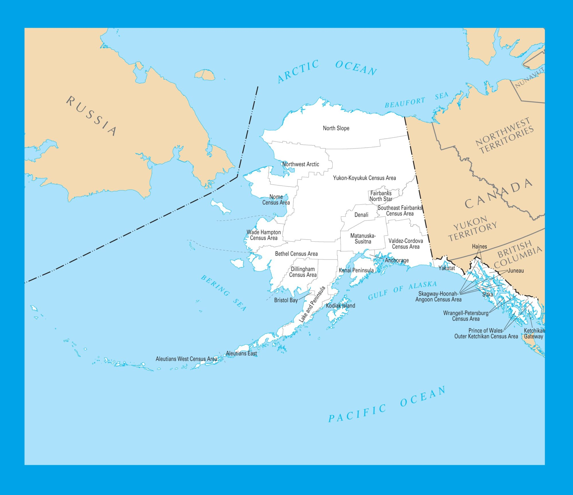 photo regarding Printable Maps of Alaska named Alaska County Map Weighty Printable 4 WhatsAnswer