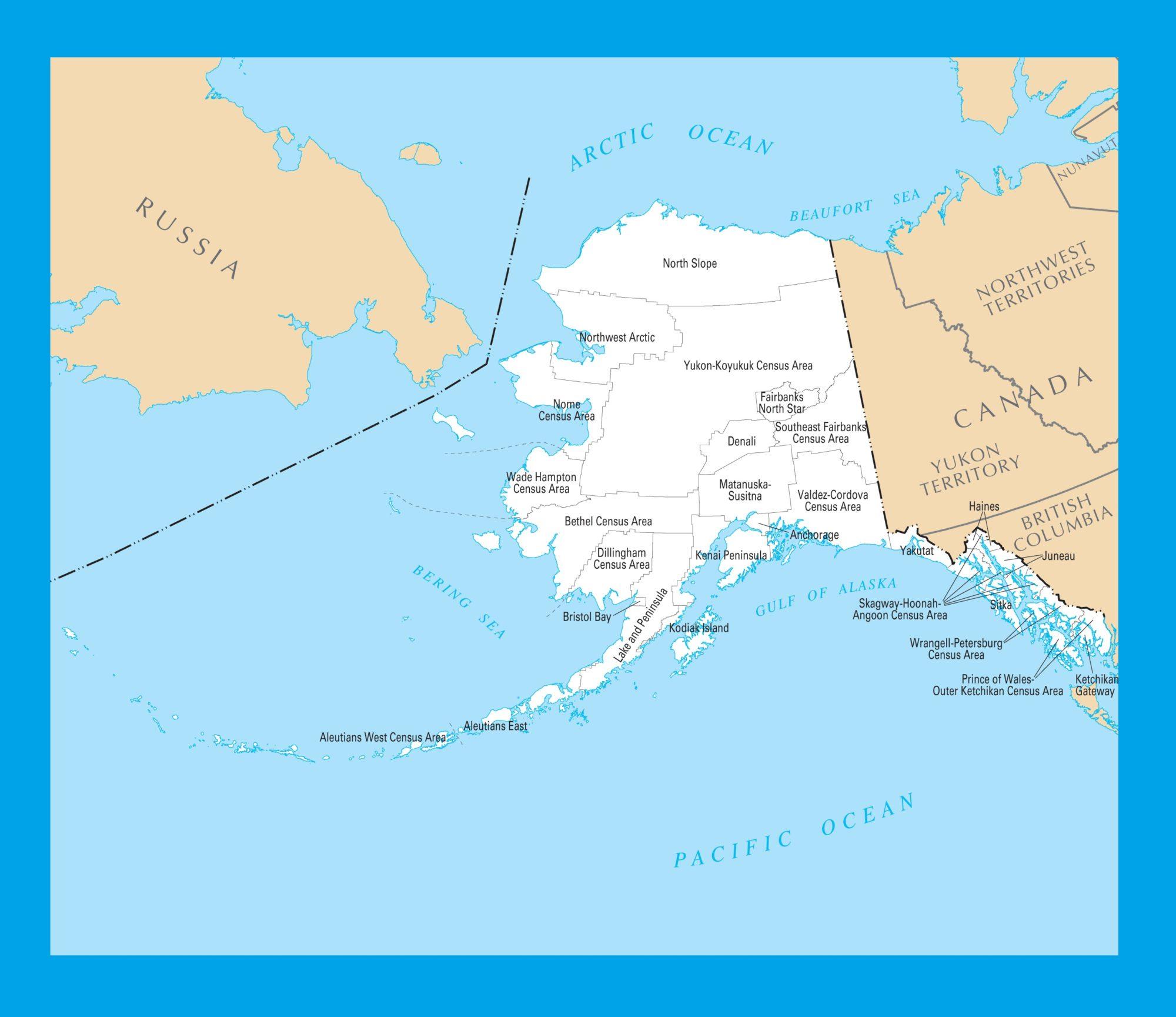 photograph regarding Printable Map of Alaska identified as Alaska County Map Substantial Printable 4 WhatsAnswer