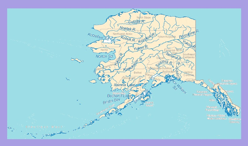 Alaska River Map | Large Printable and Standard Map