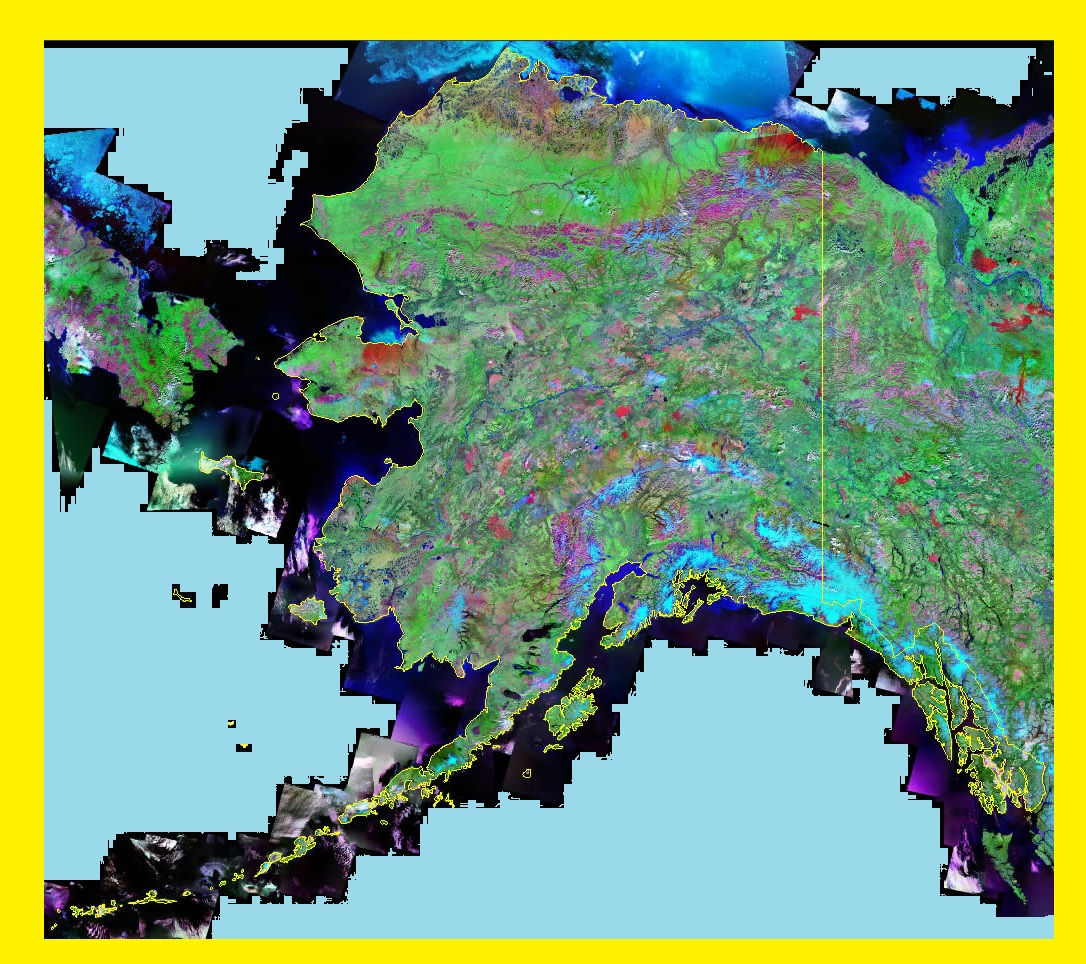 Alaska Satellite Map | Large Printable and Standard Map