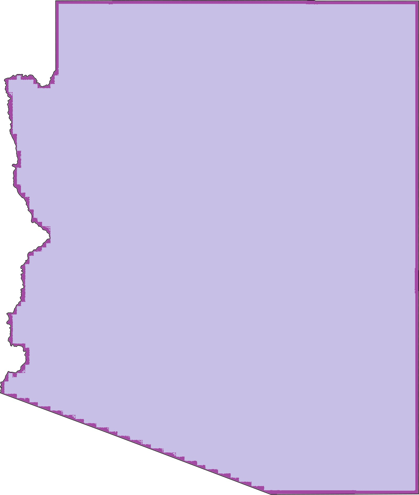 Arizona Blank Outline Map   Blank Outline Map of Arizona – 4