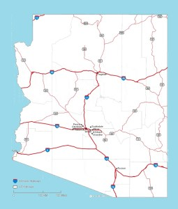 Arizona Road Map | Large Printable and Standard Map
