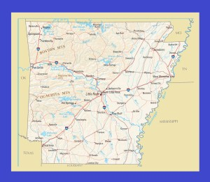 Arkansas Political Map | Large Printable and Standard Map