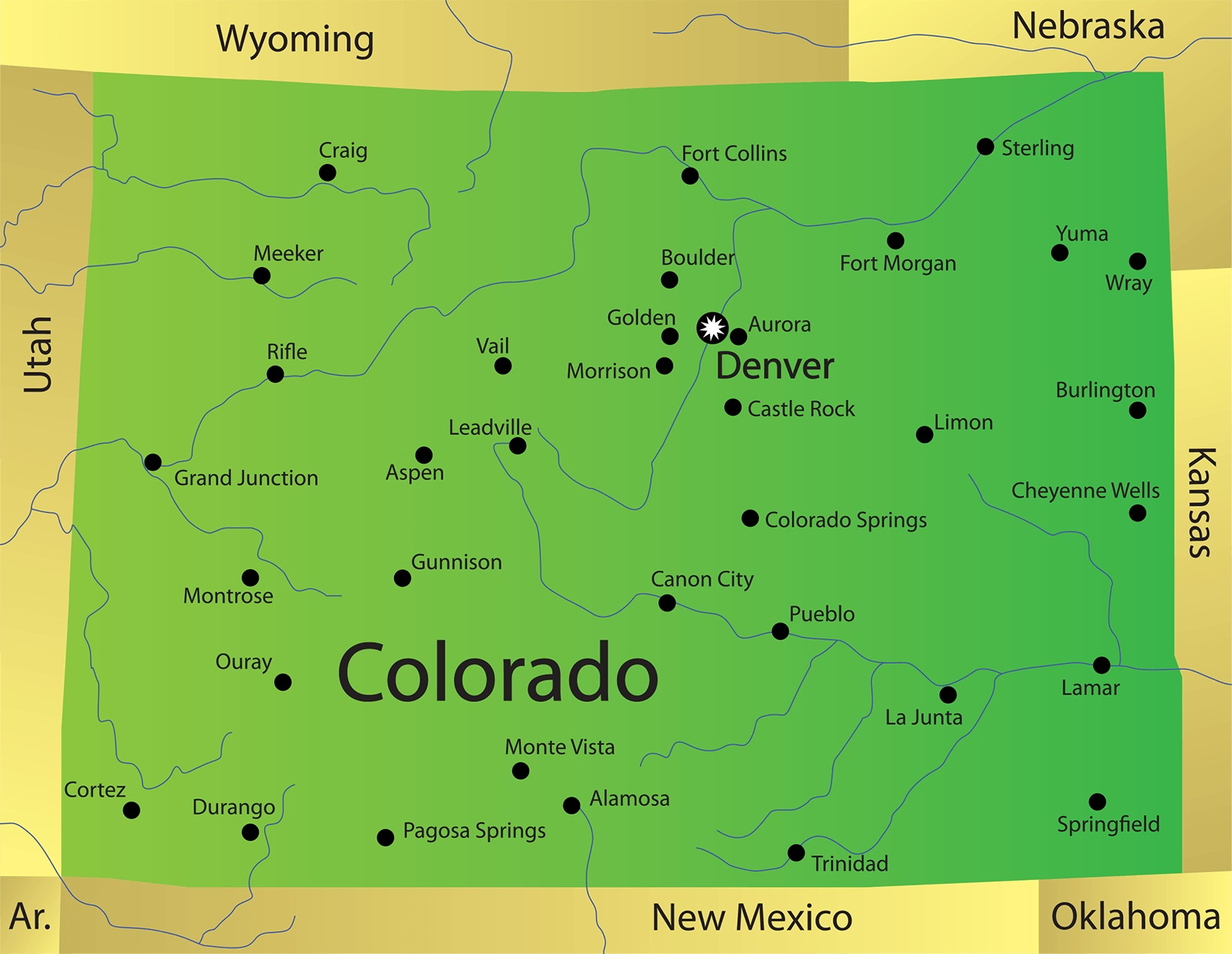 Colorado City Map | Large Printable and Standard Map