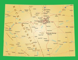 Colorado Physical Map | Large Printable and Standard Map