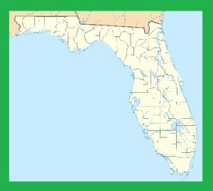 Florida Blank Outline Map | Large Printable and Standard Map 6