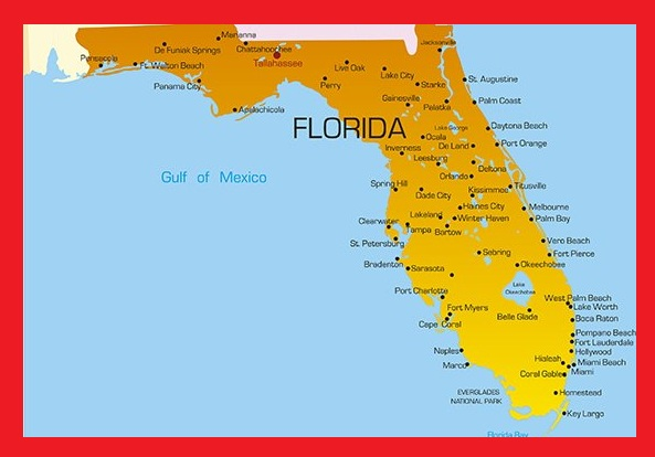 Florida Labeled Map | Large Printable and Standard Map