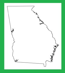 Georgia Blank Outline Map | Large Printable and Standard Map 3
