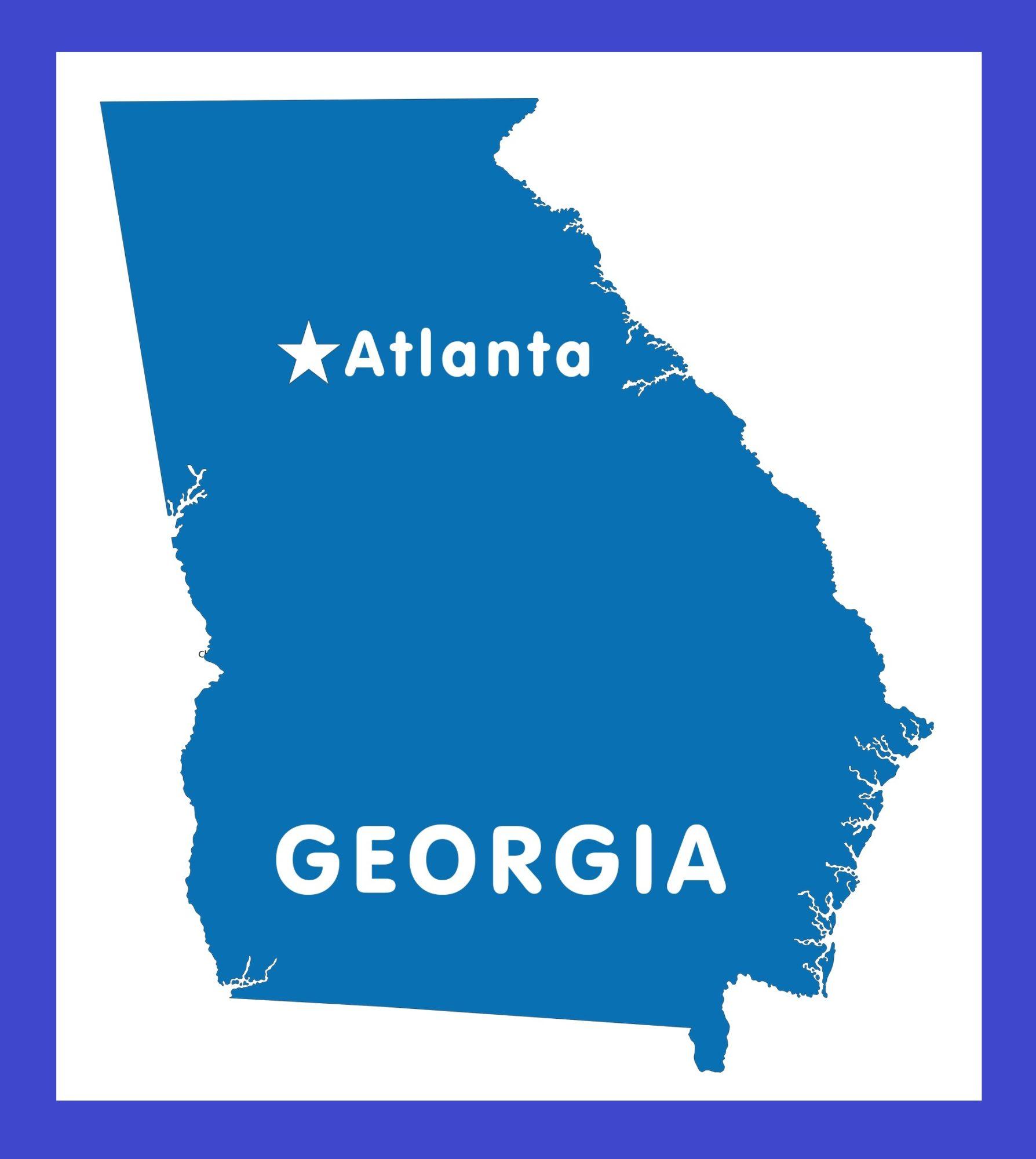 Georgia Capital Map | Large Printable and Standard Map 1