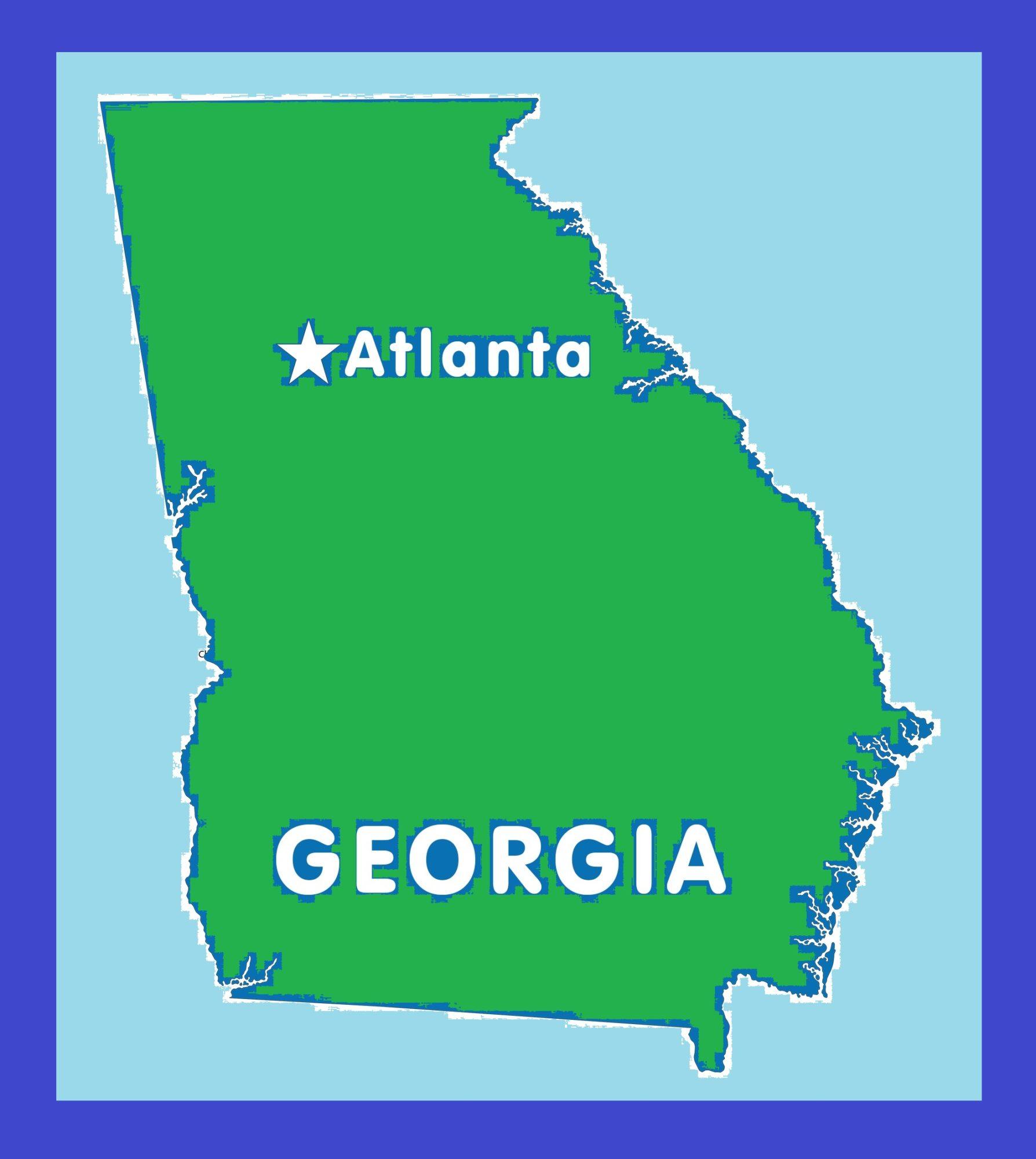 Georgia Capital Map   Large Printable and Standard Map 10