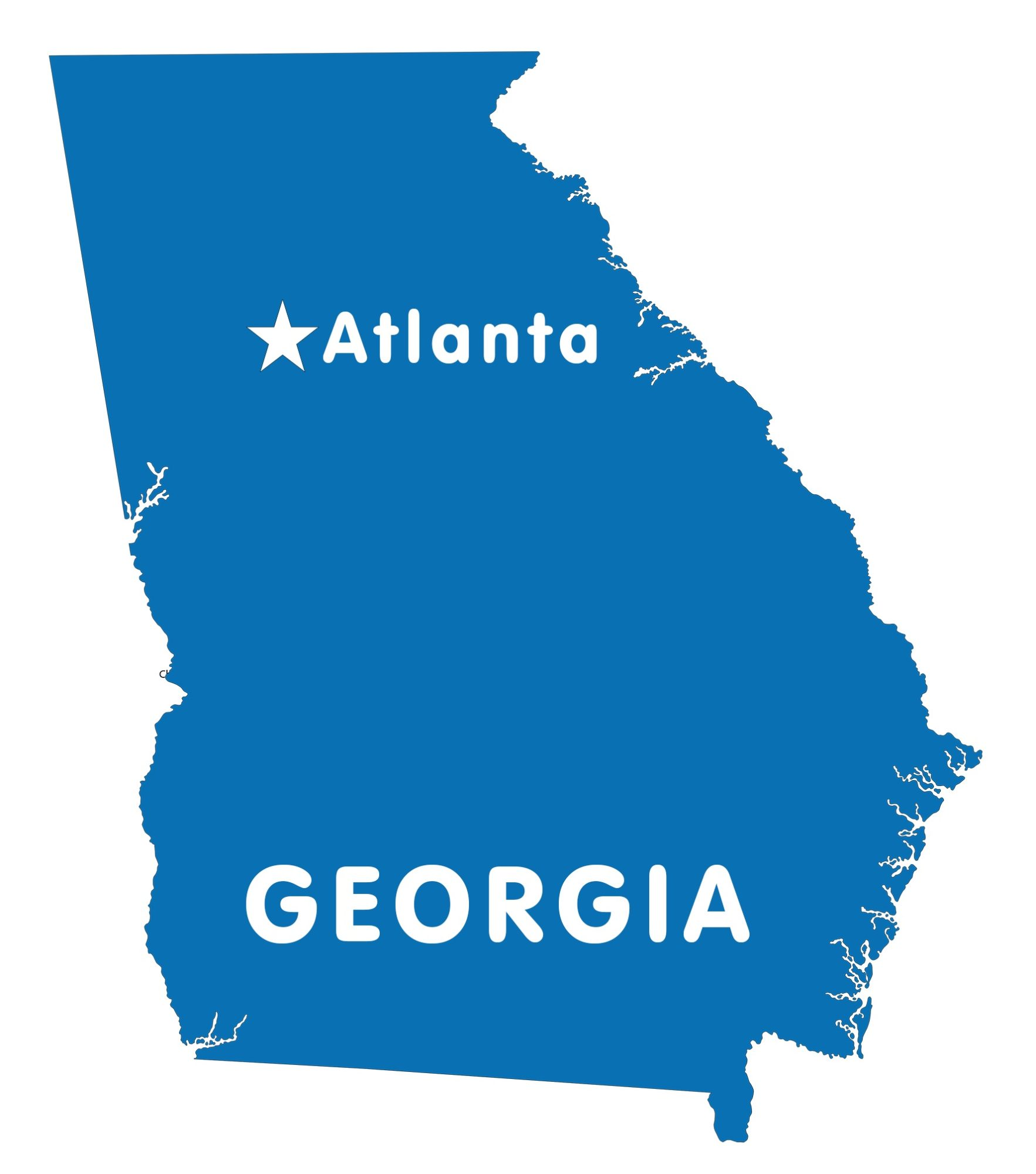Georgia Capital Map   Large Printable and Standard Map