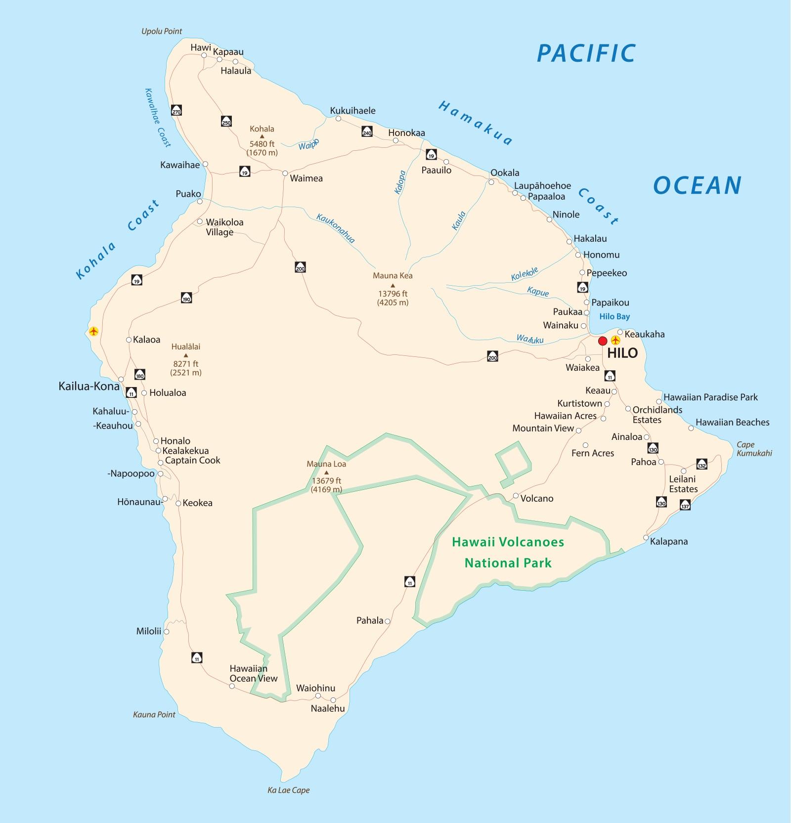 Hawaii Island Map | Large Printable and Standard Map