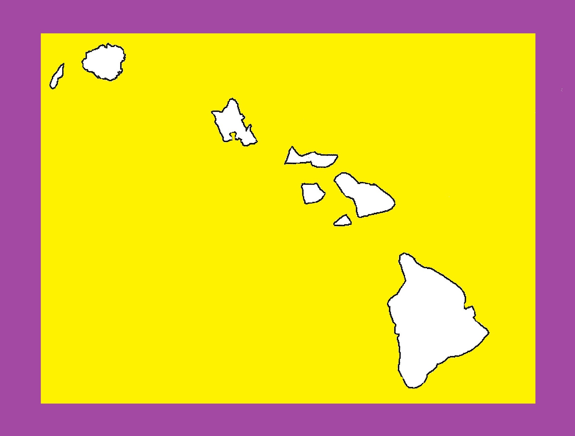 Hawaii Blank Outline Map | Large Printable and Standard Map 7