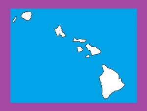 Hawaii Blank Outline Map   Large Printable and Standard Map 6