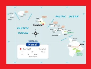Hawaii Physical Map | Large Printable and Standard Map 2