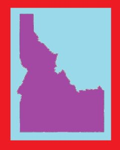 Idaho Blank Outline Map | Large Printable and Standard Map 2