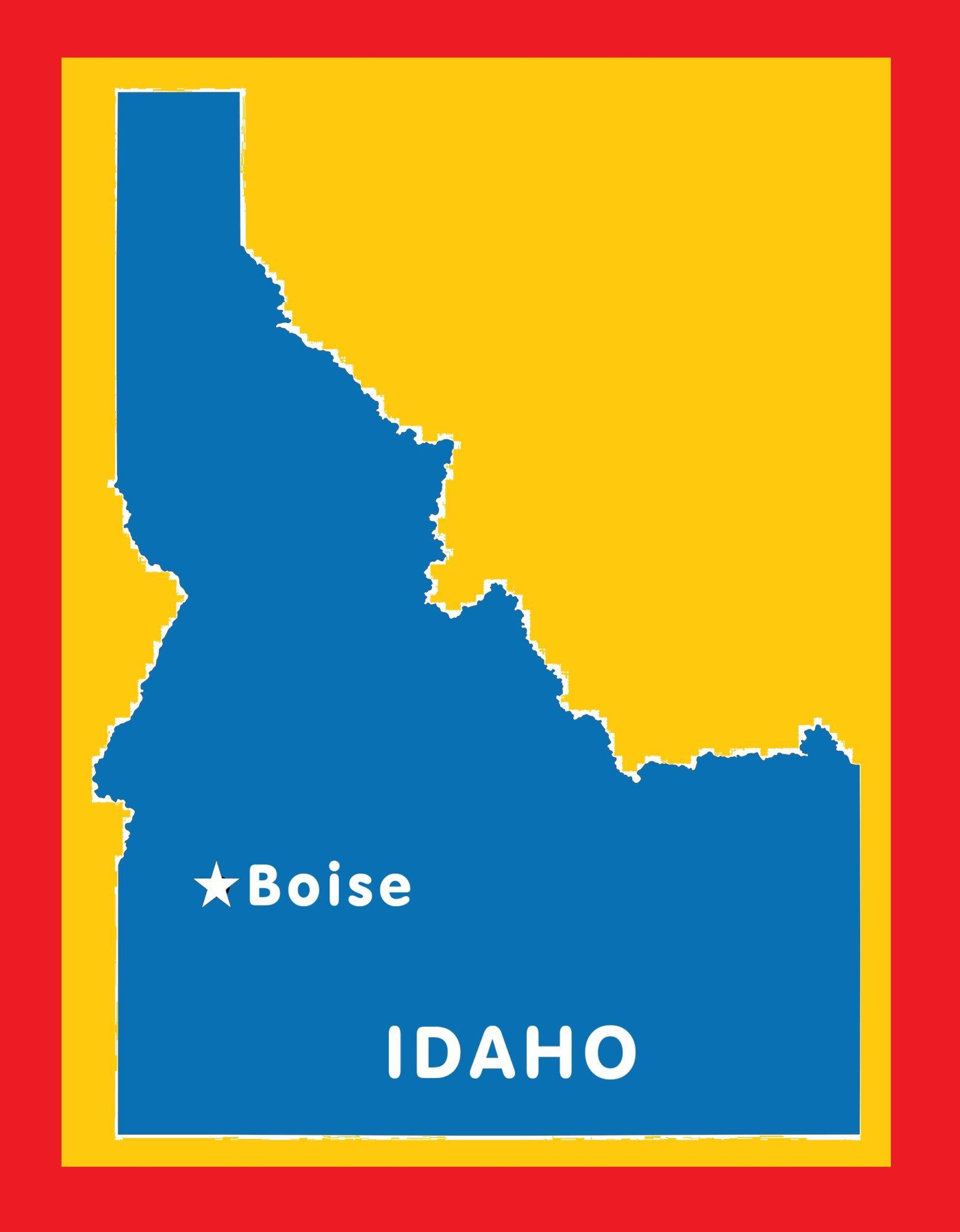 Idaho Capital Map | Large Printable and Standard Map 6
