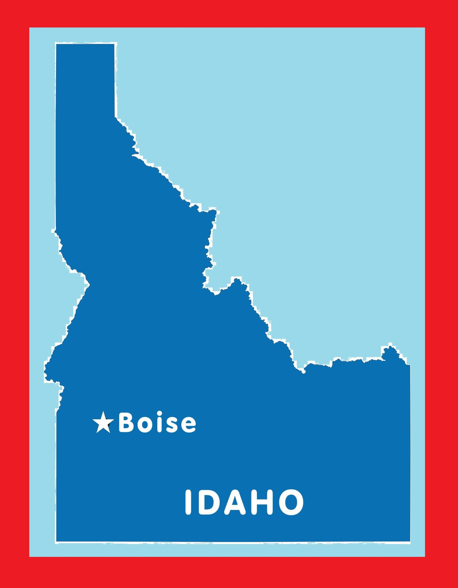 Idaho Capital Map | Large Printable and Standard Map 3