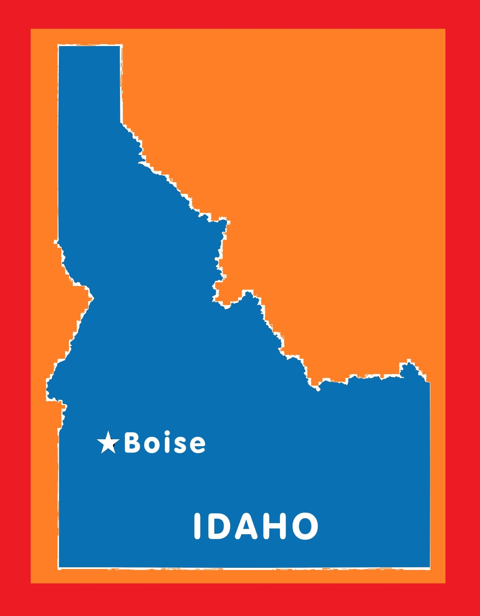 Idaho Capital Map | Large Printable and Standard Map 4