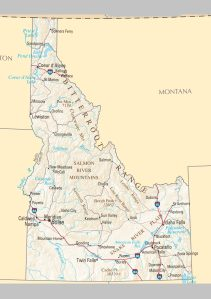 Idaho Political Map | Large Printable and Standard Map 2