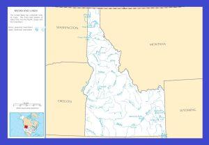 Idaho River Map | Large Printable and Standard Map 1
