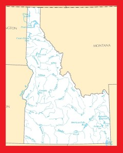 Idaho River Map | Large Printable and Standard Map