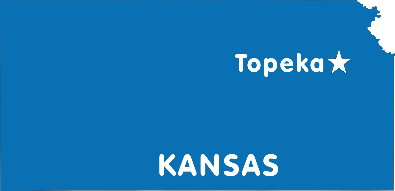 Kansas Capital Map | Large Printable High Resolution and Standard M