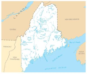 Maine Rivers Map | Large Printable High Resolution and Standard Map