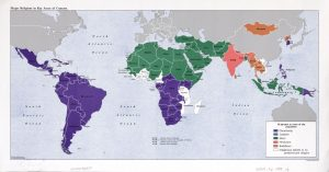 The World Religion Map – 1988 | Large, Printable Downloadable Map
