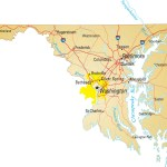 Map Of Maryland Political County Geography Transportation And Cities Map Whatsanswer