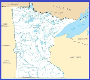 Minnesota Rivers Map | Large Printable High Resolution and Standard Map