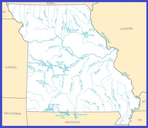 Missouri Rivers Map | Large Printable High Resolution and Standard Map