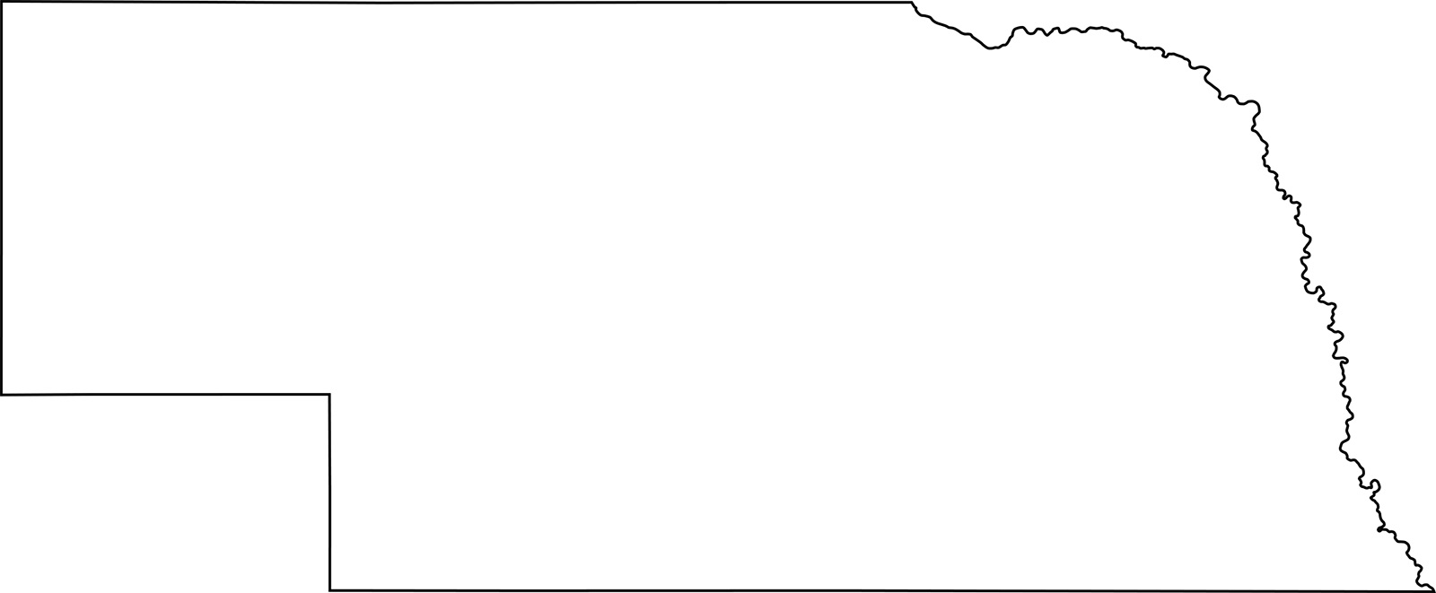 Nebraska blank outline Map | Large Printable High Resolution and Standard Map