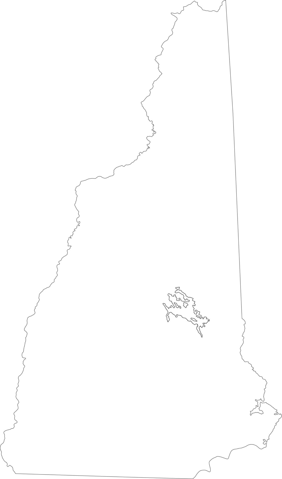 New Hampshire blank outline Map | Large Printable High Resolution and Standard Map