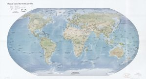 The World Physical Map    June 2010   Large, Printable Downloadable Map